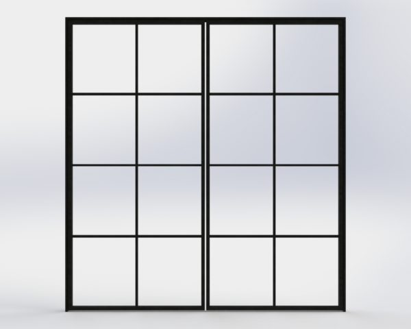 crittall industrial steel glass double door