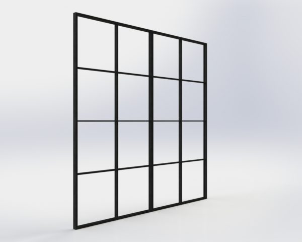crittall industrial steel glass partition