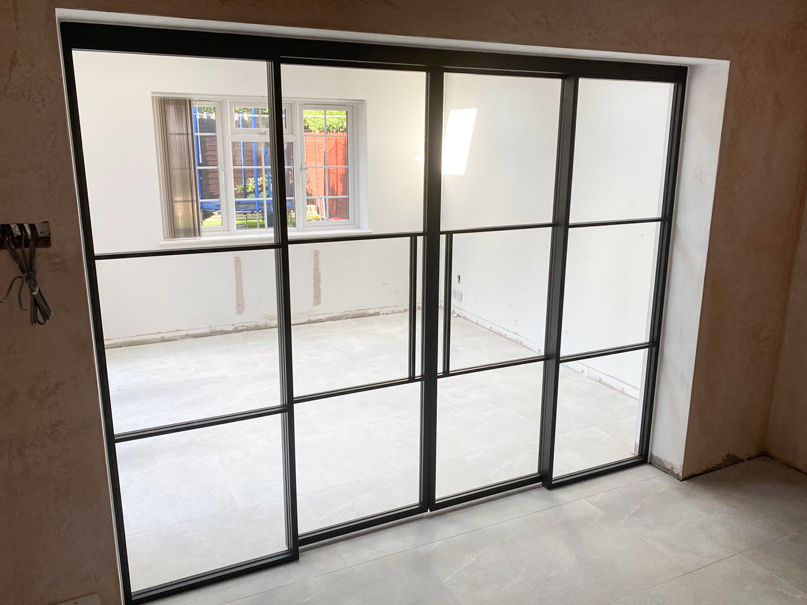 top hung sliding door sets with fixed sidelights